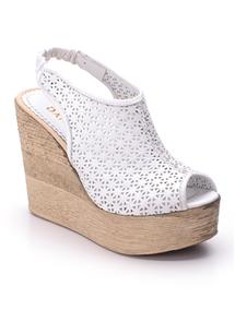 Beyaz Yarı Kapalı Sandalet