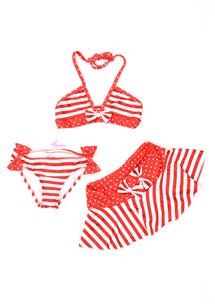 Etekli Fiyonklu Grup Bikini Takım