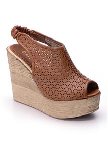 Kahverengi Yarı Kapalı Sandalet