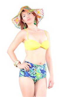 dikme-hazir-kapli-retro-sort--bikini-takim