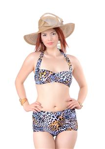 Hazır Atma Kaplı, Göğüs Orta Büzgülü Bikini Takım